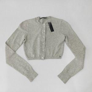 THE LIMITED L/S Cardigan Shrug Grey XS Cotton NWT